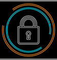 lock icon padlock security safety symbol vector image