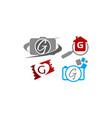 logotype g modern template set vector image vector image