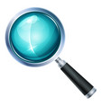 magnifying glass icon isolated vector image