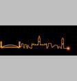 manchester light streak skyline vector image