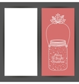 Mason jar decoration for Christmas season vector image