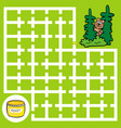 maze bear looking for right way to honey vector image vector image