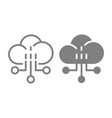 network line and glyph icon cloud vector image vector image