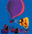 night from a balloon projecting a mythological vector image