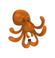 octopus with smartphone cute animal cartoon vector image vector image