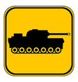 Panzer symbol button vector image vector image