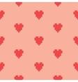 pixel art heart seamless pattern vector image vector image