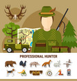 professional hunter concept vector image