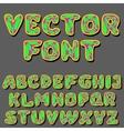 psychodelic alphabet vector image vector image