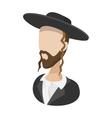 Rabbi cartoon icon vector image vector image