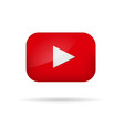 red play video button vector image vector image