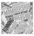 Resource for Running a Membership Website Word vector image vector image