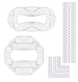Rosettes and border vector image vector image