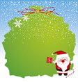 Santa claus design for christmas vector image vector image