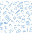 school doodle icon seamless pattern background vector image