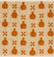 seamless pattern for halloween creepy wrapping vector image vector image