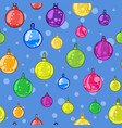 seamless pattern of christmas tree balls vector image vector image