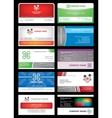 Set cards stock building vector | Price: 1 Credit (USD $1)