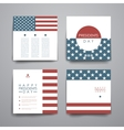Set of modern design banner template in Presidents vector image