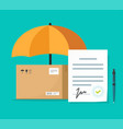 shipping insurance contract or freight cargo vector image