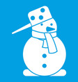 snowman icon white vector image vector image