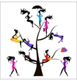 Sociology Tree different girls vector image