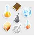 Sticker icon set for education vector image vector image