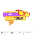 summer badge isolated on white vector image