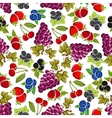 Sweet fruits and berries seamless pattern vector image vector image