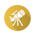 telescope flat design long shadow glyph icon