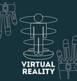 virtual reality related vector image
