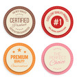 warranty label set colorful modern quality marks vector image
