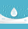 water drop banner vector image
