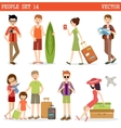 People go to holiday vector image