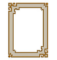 3d golden frame vector image