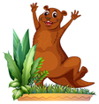 A brown animal vector image vector image