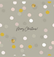 abstract christmas greeting card confetti gold vector image