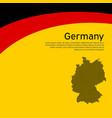 abstract waving germany flag and mosaic map vector image vector image