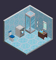 bathroom isometric interior view vector image