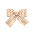 beige bow decorative element vector image vector image