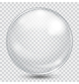 Big white transparent sphere vector image vector image