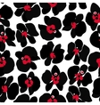Black Orchid seamless pattern vector image