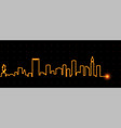 boston light streak skyline vector image