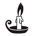 candle icon simple style vector image vector image