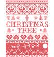 christmas pattern o christmas tree carol se vector image vector image