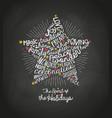 christmas star card word cloud design vector image vector image