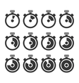 Circle Timer Stopwatch Icon Set vector image vector image