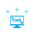 cms content management system icons vector image