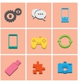 colored icons set 3 vector image vector image