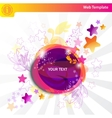 colorful bubbles and stars vector image vector image